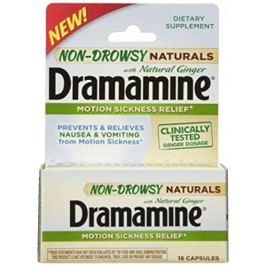 Dramamine Non-Drowsy Naturals with Natural Ginger, 18 Count