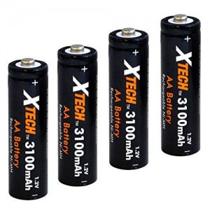 Xtech AA Ultra High-Capacity 3100mah Ni-MH Rechargeable Batteries (4 pack)
