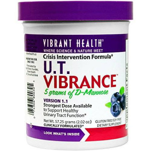 Vibrant Health - U.T. Vibrance - D-Mannose and Botanicals Designed to fight E. Coli and promote UT health, 2.02 ounce (FFP)