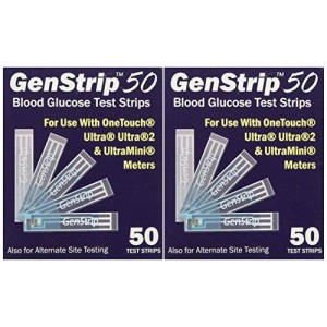 Unknown 100 GenStrip50 Test Strips for Use with OneTouch Ultra Meters   2 Pack