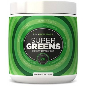 IntraNaturals SUPER GREENS | Greens Powder w/ Organic Spirulina