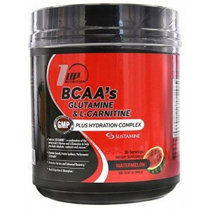1 UP Nutrition BCAA's Glutamine and L-Carnitine +Hydration Complex 30 Servings Watermelon