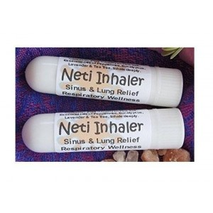 Urban ReLeaf NETI INHALERS! SET of TWO (2) Sinus and Lung Relief. HIMALAYAN SALT AIR and Healing Botanicals! Respiratory Wellness. Clearing