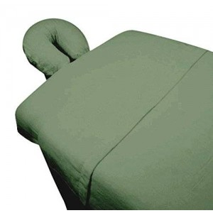 Web Linens Inc High Quality - 3pc Microfiber Massage Table Sheet Set - Sage - Exclusively by Blowout Bedding RN# 142035