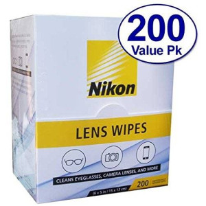 Nikon Optical USA Nikon Pre-Moistened Lens Cloths Wipes 200 Ct