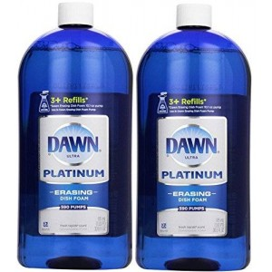 Dawn Platinum Erasing Dish Foam, Refill, Fresh Rapids Scent, 30.9 Fluid Ounce (2 PACK)