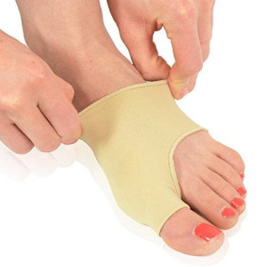 Dr. Frederick's Original Gel Pad Bunion Sleeves - 2 Bunion Booties for Bunion Relief Before and After Bunion Surgery - Wear with Shoes - Regular