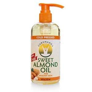 GuruNanda Sweet Almond Oil, Moisturizing Oil, 16 ounce