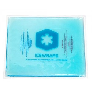 10x12 Reusable Large Gel Ice Pack Wrap, Microwavable Hot Pack, Cooling Pad, Muscle or Joint Pain Relief, Injury or First Aid By IceWraps (Blue)