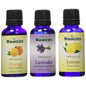 Woolzies Essential Oil Gift Set of 3 Oils, Lavender, Sweet Orange and Lemon Essential Oil