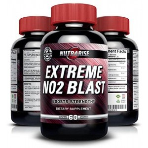 Nutra Rise Top Rated NO2 Nitric Oxide Booster and L-arginine Supplement with L-glutamine to Build Muscle Fast
