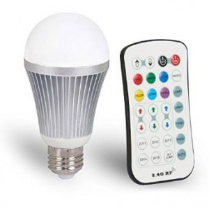 Coidak E27 12W 2.4G Wireless RGBW LED Light Color Changing Lamp Bulb AC 85-265V with Remote Controller RGB + White