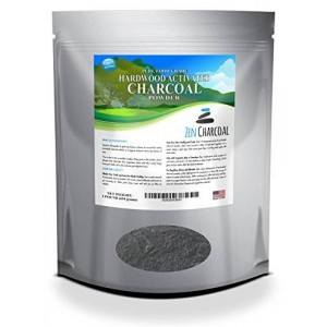 Zen Charcoal 1 Lb. All Natural FOOD GRADE Activated Charcoal Powder from USA Hardwood Trees. Whitens Teeth