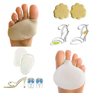 LifeLux Ball Of Foot Cushions Pain Relief Value Pack. 2 Gel Spandex Metatarsal Pads / Cushions Help Prevent Ball Of Foot Pain