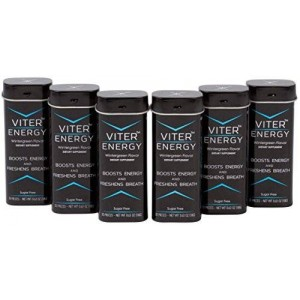 Viter Energy Caffeine Mints 40mg Caffeine and B-Vitamin Complex in Each Mint. Sugar-Free