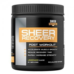 Sheer Strength Labs SHEER RECOVERY: The Best Post Workout Supplement and Muscle Builder - Science-Backed Formula w/ Premium BCAA