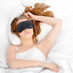 Sleeping Kit - Best Eye Mask with Comfortable Carry Pouch and Ear Plugs for Perfect Sleep By Adventure At Nature