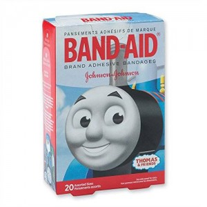 SmileMakers Thomas the Train Band-Aid Bandages - First Aid Kit Supplies - 20 per Pack