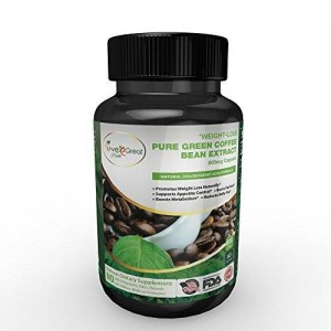 Love Great Health 100% Pure Green Coffee Bean Extract Appetite Suppressant Pills