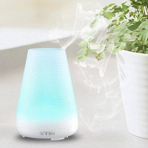 Vtin Electric Ultrasonic Aromatherapy Essential Oil Diffuser Cool Mist Humidifier w/ 7 Color LED Lights