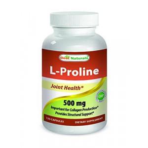 L-Proline 500 mg 120 Capsules by Best Naturals