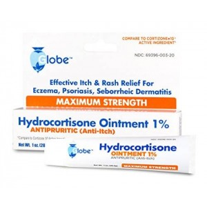 Globe Pharmacy Hydrocortisone Maximum Strength Ointment 1%, USP 1 oz (Compare to Cortizone-10) (1 Tube)