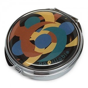 gopillable LARGE Midnight Swirl Decorative Pill Box for Bag or Purse