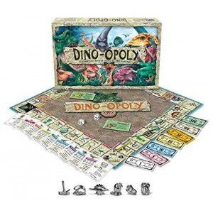 Late for the Sky Dino-Opoly Monopoly Board Game