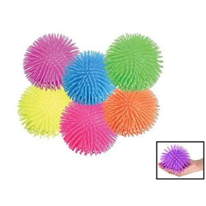 "Rhode Island Novelty Puffer Ball. Pon Pon Squishy Ball (12 pack) 5""."