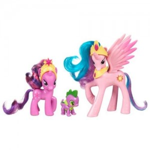 Hasbro My Little Pony Friendship is Magic 3 Pack Royal Castle Friends With Twilight Sparkle, Spike The Dragon, and Princess Celestia