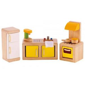 Hape - Happy Family Doll House - Furniture - Kitchen - Happy Family
