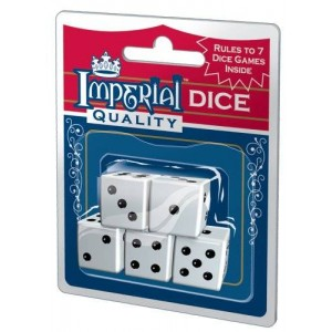Patch Products Inc. Imperial Dice, White, 5-Piece