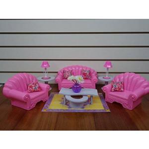 gloria Barbie Size Dollhouse Furniture- Living Room Set