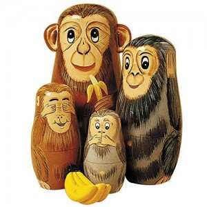 Bits and Pieces Nesting Monkey Animal Set