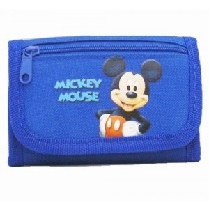 New Disney Mickey Mouse Tri-fold Wallet Gift for Holiday, Birthday - Blue