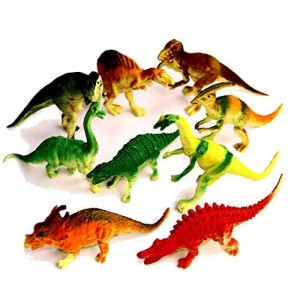 """Dazzling Toys Large Assorted Dinosaurs 4""""-5"""" Larger Size Dinosaur Figures - Pack of 12"""