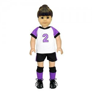 """Pink Butterfly Closet Doll Clothes - 5 Piece Soccer Outfit Set Fits American Girl Dolls, Madame Alexander and Other 18"""" Dolls"""