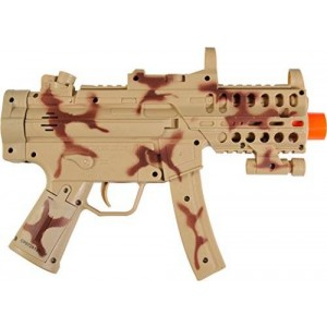 "Sunny Days Entertainment Maxx Action 11.5"" Toy Mini Machine Gun with Electronic Sound, Lights, and Vibration - Camo"