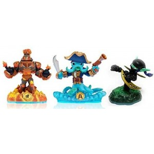 Activision Skylanders Swap Force LOOSE Blast Zone, Wash Buckler, and Ninja Stealth Elf Set Includes Card Online Code