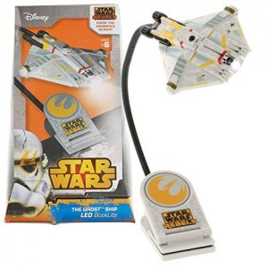 Santoki Star Wars Rebels The Ghost Ship BookLite - LED Book Light with Large Adjustable Clip and Timer