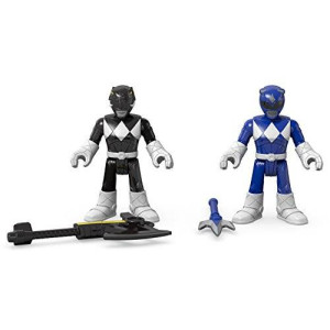 Fisher-Price Imaginext Power Rangers Blue Ranger and Black Ranger Figures