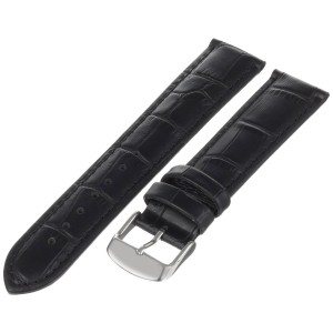 Hadley Roma Hadley-Roma Men's MSM898RA-200 20-mm Black Alligator-Grain Leather Watch Strap