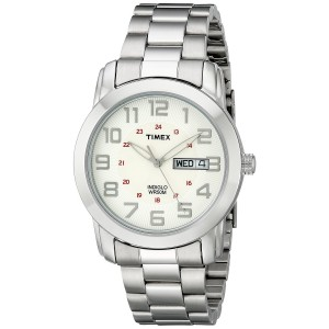 Timex Men's T2N437 Elevated Classics Sport Chic Silver-Tone Bracelet Watch