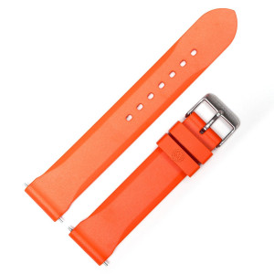 MARATHON WW005006OR Men's Vulcanized Rubber Watch Band Strap 20mm, Orange Made In Italy