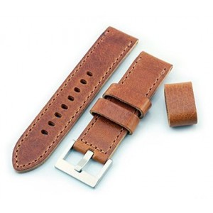 HELM Watches LS2 Leather Watch Strap - Whiskey - 22mm