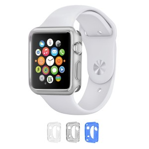 ECO-FUSED TPU Case Bundle for 42mm Apple Watch / Watch Sport / Watch Edition / Including 3 Flexible TPU Cove