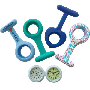 NW-Pro JAS Unisex Nurses Lapel Watch Silicone (Infection Control) - The Blues Collection