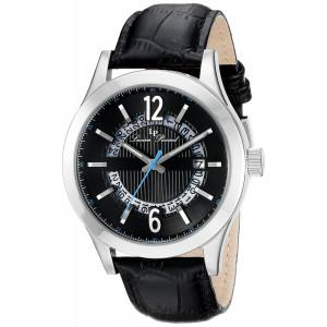Lucien Piccard Men's LP-40020-01 Oxford Analog Display Quartz Black Watch
