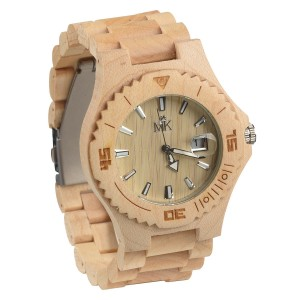 Wooden Watch For Men Women Maui Kool Lahaina Collection Maple Analog Wood Watch With Bamboo Gift Box