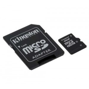 Kingston 8GB Class 4 MicroSDHC Card Flash Memory with SD Adapter SDC4/8GB